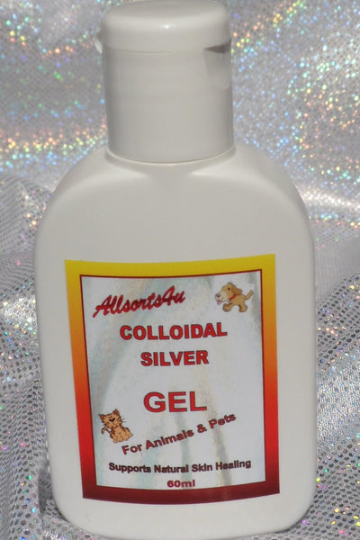 Allsorts4u Colloidal Silver ANTISEPTIC GEL for ANIMALS & PETS 60ml (NZ Sales Only)
