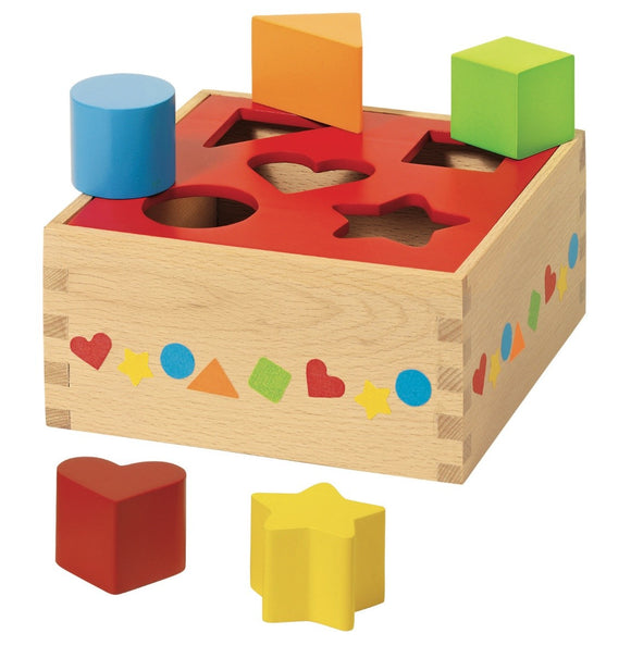 Shape Sorter Wooden Toy Box