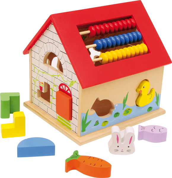 Activity House With Clock, Abacus, Shape Sorter & Numbers Game