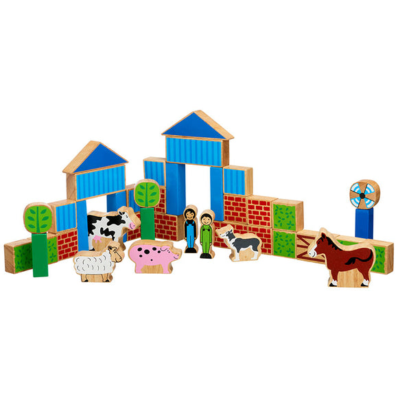 Farm & Animals Building Blocks & Animals 40 Pieces