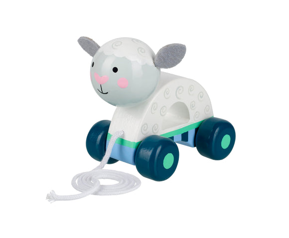 Sheep Wooden Pull Along Toddler Toy
