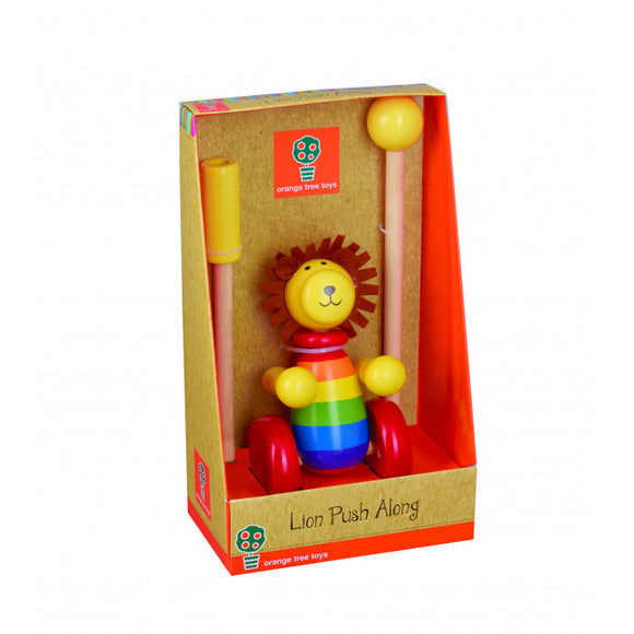 Lion Wooden Push Along Toy (Boxed)