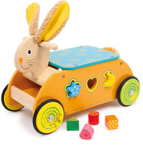 Rabbit Ride-On Toddler Shape Sorter Cart