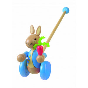 Peter Rabbit Wooden Push Along Toddler Toy (Boxed)