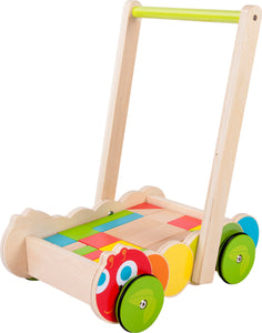 Caterpillar Toddler Walker with Building Blocks