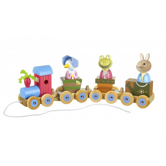 Peter Rabbit Puzzle Train Pull Along