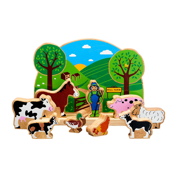 Farm Playscene with 9 Characters