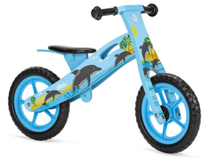 Wooden Balance Bike with Dolphin design (2 years +)