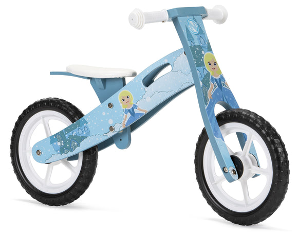 Wooden Balance Bike with Ice Princess design (2 years +)