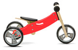 Mini Balance Bike & Trike 2 in 1 in Red (18 months +)