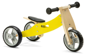 Mini Balance Bike & Trike 2 in 1 in Yellow (18 months +)