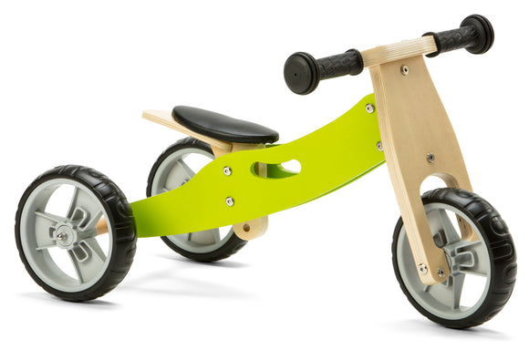 Mini Balance Bike & Trike 2 in 1 in Green (18 months +)
