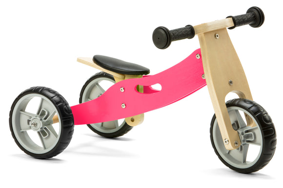 Mini Balance Bike & Trike 2 in 1 in Pink (18 months +)
