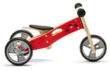 Mini Balance Bike & Trike 2 in 1 with printed Red Cars design (18 months +)