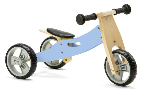 Mini Balance Bike & Trike 2 in 1 in Pastel Blue (18 months +)