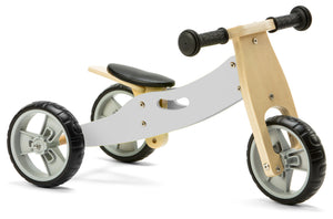 Mini Balance Bike & Trike 2 in 1 in Grey (18 months +)