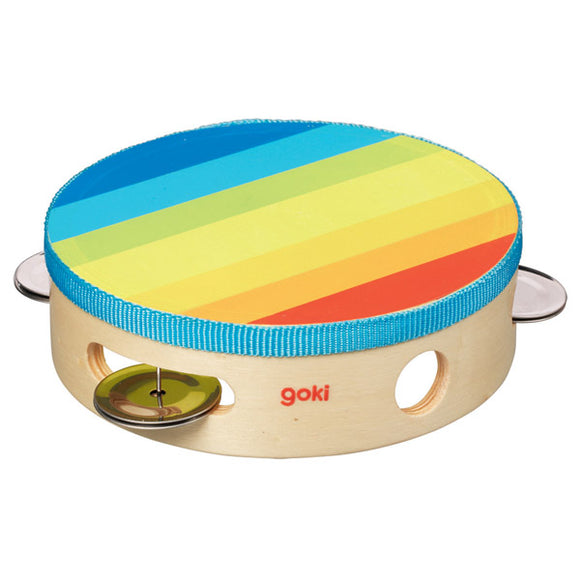 Tambourine for Children in Rainbow Colours
