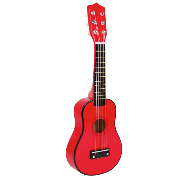 Red 6 String Children's Wooden Guitar