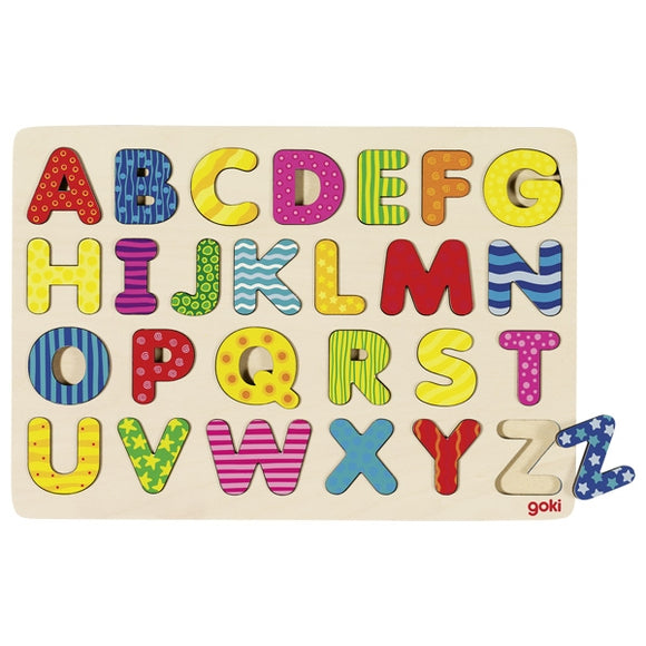 Traditional Multicoloured Alphabet Board