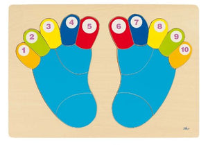 Counting Feet & Toes Board