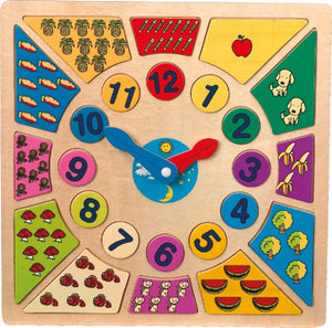 Tell the Time Clock - Colour, Shape & Number Sorter