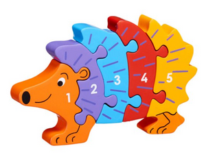 Hedgehog 1-5 Numbers Chunky Jigsaw Puzzle