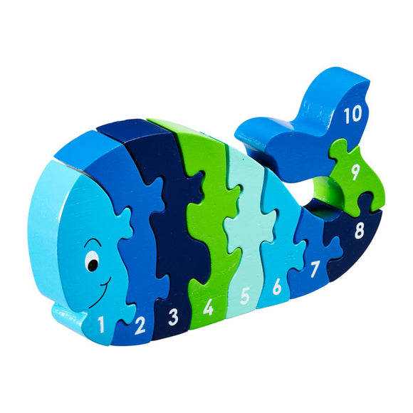 Whale 1-10 Numbers Chunky Jigsaw Puzzle