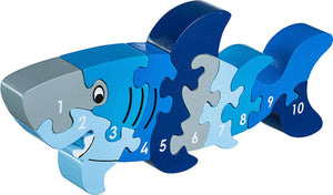 Shark 1-10 Numbers Chunky Wooden Jigsaw Puzzle