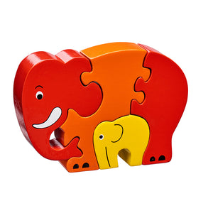 Elephant and Baby Chunky Wooden Jigsaw Puzzle