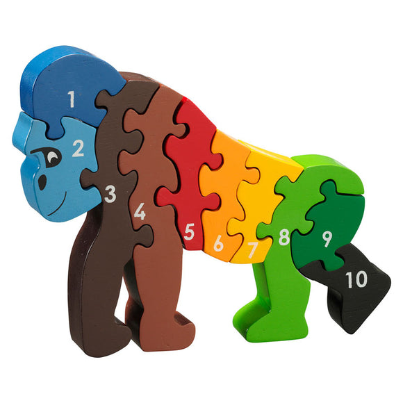 Gorilla 1-10 Numbers Chunky Jigsaw Puzzle
