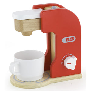 Wooden Coffee Maker with Cup & Disc Coffee Bean Insert