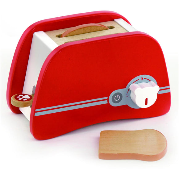 Pop Up Wooden Toaster with 2 Slices of Play Bread