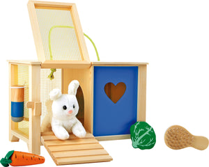Play Rabbit Hutch with White Bunny & Food