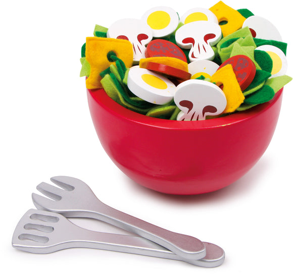 31 Piece Garden Salad in Dish with Serving Utensils