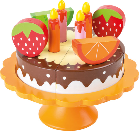 Birthday Cake with Colourful Fruit