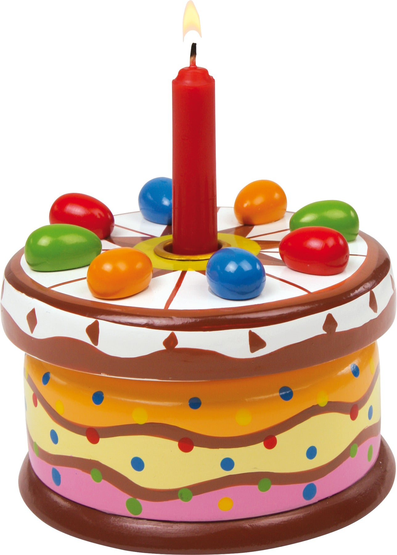 Musical Wooden Happy Birthday Cake Wood And Wonder