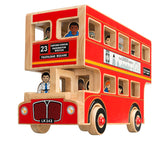Large London Bus Playset with Driver & Passengers