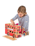 Large London Bus Playset with Driver & 14 Passengers