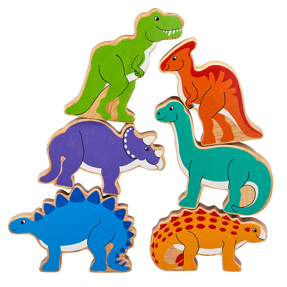 6 Chunky Dinosaur Figures in a Bag