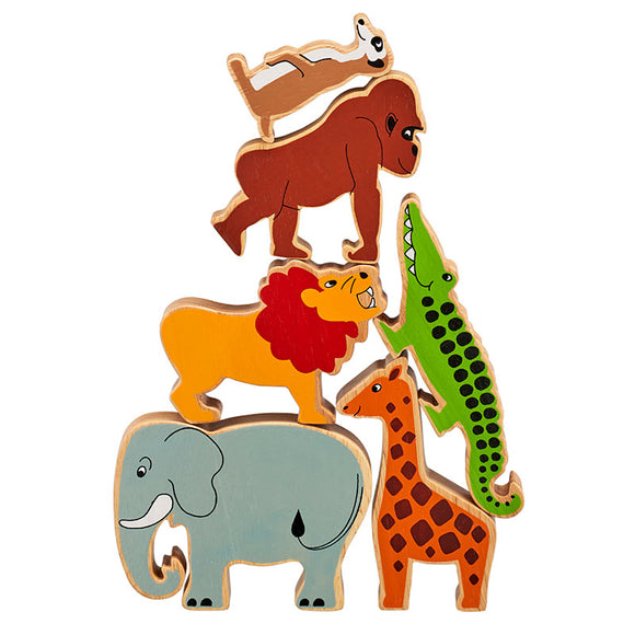 6 Chunky World Safari & Zoo Animal Figures in a Bag