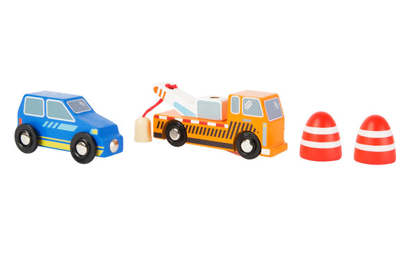 Tow Truck Wooden Service Vehicle Set