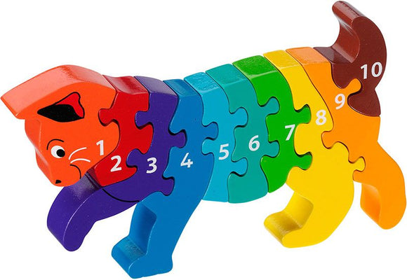 Cat 1-10 Numbers Chunky Jigsaw Puzzle