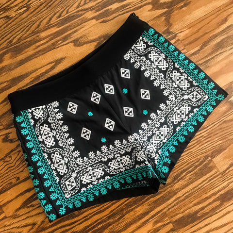 Aruba Embroidered Shorts Black