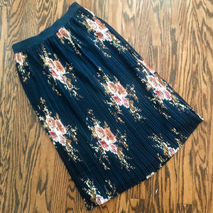 Polished Pleats Midi Skirt