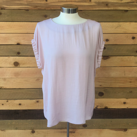 Banded Sleeve Top Blush