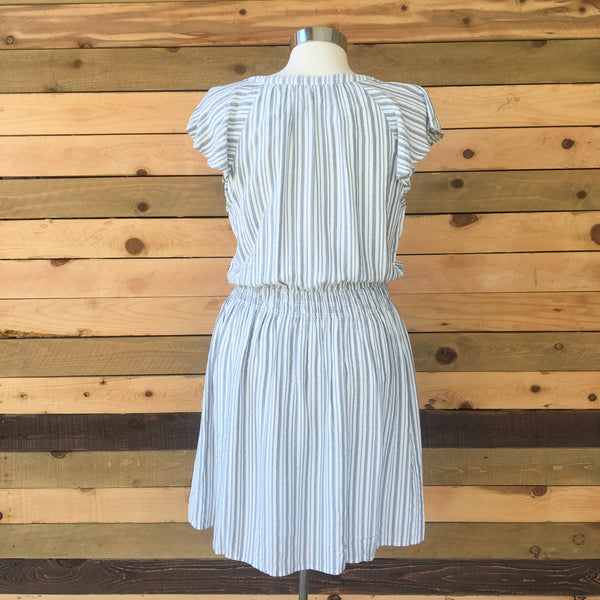 Smock Waist Button Front Dress