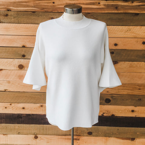 Belle Knit Top Ivory