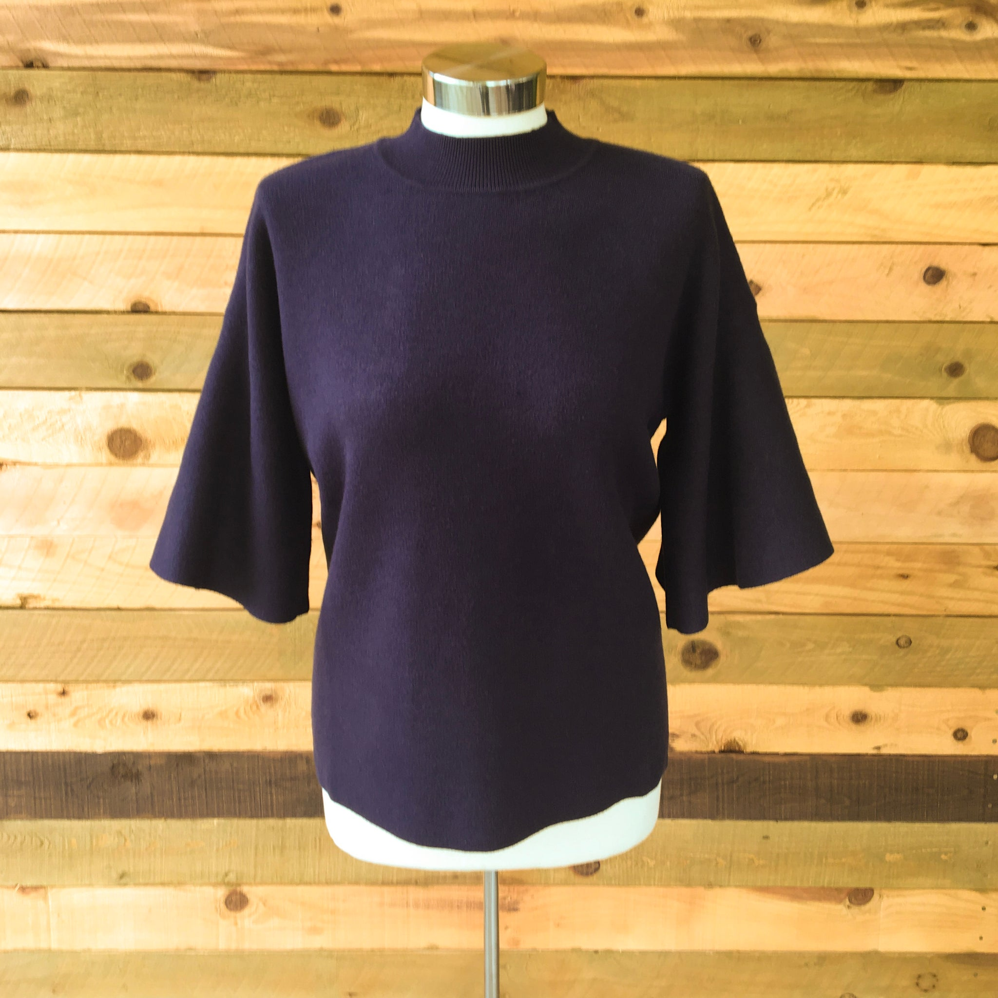 Belle Knit Top Navy