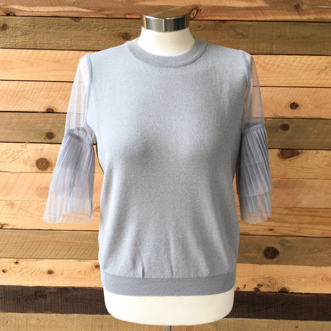 The Tulle Sleeve Top