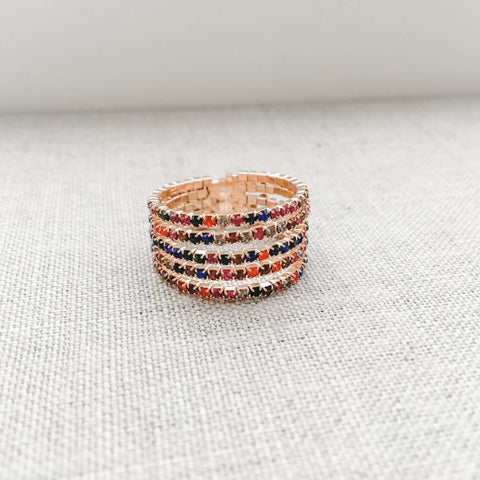 Faux Stack Gem Ring